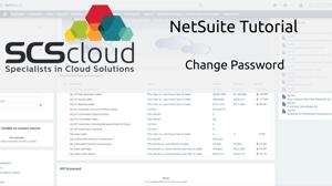 NetSuite Tutorial - Change Password
