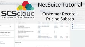 NetSuite Tutorial - Customer Record - Pricing Subtab