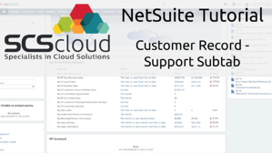 NetSuite Tutorial - Customer Record - Support Subtab