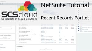 NetSuite Tutorial - Recent Records Portlet