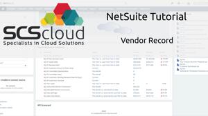 NetSuite Tutorial - Vendor Record